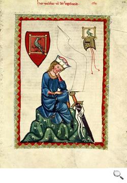 Codex Manesse (Cod. Pal. germ. 848), Herr Walther von der Vogelweide