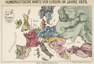 Satirical map of Europe 1870