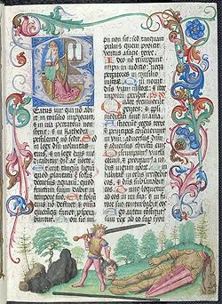 Cod. Sal. IX d, Salemer Abtsbrevier II (Sommerteil), Salem, 1494/1495, fol. 19r