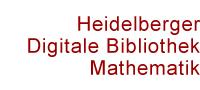 Schriftzug Heidelberger Digitale Bibliothek Mathematik