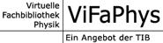 Logo Virtuelle Fachbibliothek Physik ViFaPhys