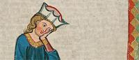 Ausschnitt aus Cod. Pal. germ. 848, Große Heidelberger Liederhandschrift (Codex Manesse)