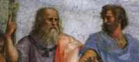 Raffaello <Sanzio>: Die Schule von Athen - Platon und Aristoteles