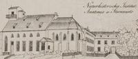 Naturhistorisches Institut, Anatomie und Sternwarte. Ausschnitt aus: Plan der Stadt Heidelberg, 1830 von Friedrich Wernigk