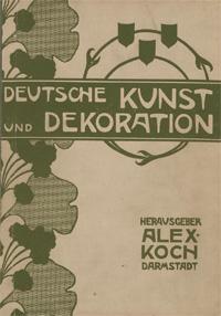 Vorderer Buchdeckel: Blattornamentik 'Deutsche Kunst und Dekoration'