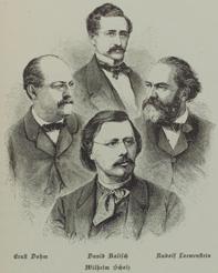 Ernst Dohm, David Kalisch, Rudolf Löwenstein, Wilhelm Scholz
