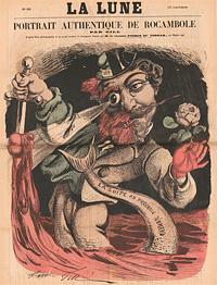 Karikatur: Napoleon III mit Fischschwanz