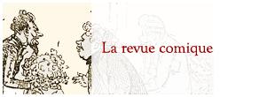 Zeichnung: Übergabe eines Blumenstraußes, Ausschnitt aus Revue comique