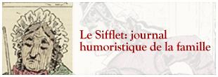 Zeichnung: Frau mit Haube; Ausschnitt aus Le Sifflet