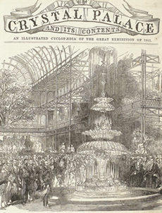 """Titelblatt der Enzyklopädie  """"The Crystal Palace And Its Contents"""""""
