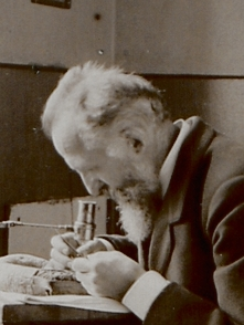 Fürbringer working at his laboratory