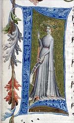 'Frau Welt' aus Hugo von Montfort (Cod. Pal. germ. 329)