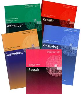 Foto-Montage: Titelblätter der Heidelberger Jahrbücher