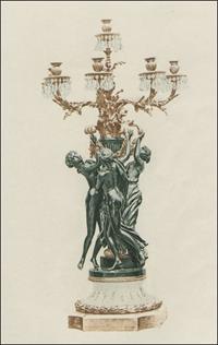 verzierter Kerzenleuchter aus Band 1.1885